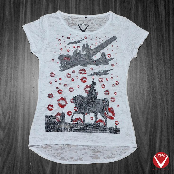 New t-shirt for woman bu UPDFQ brand. 100% made in Italy. Available only on our website http://www.updfq.it/product/t-shirt-aerei-donna/?lang=en
