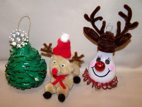 Christmas Recycled Light Bulbs