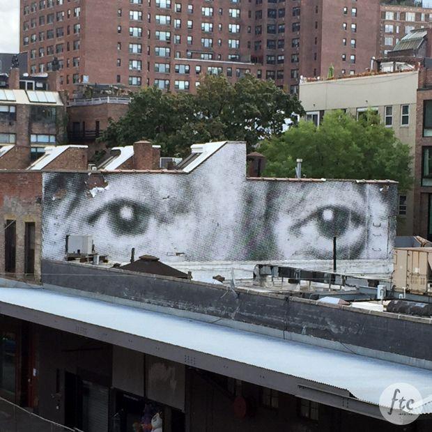 Trabalho fotógrafo francês JR - vista High Line Park, NY