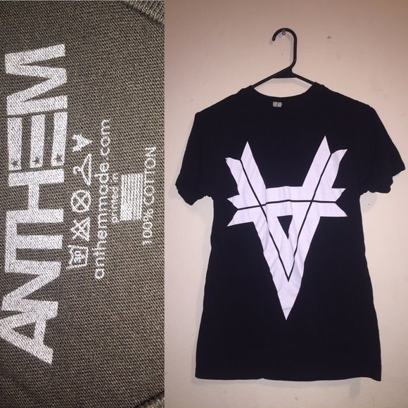 "Anthem Made Logo Tee Kellin Quinn of Sleeping with Sirens' clothing line. ""Anthem Made"" Logo tee. Lightly worn. Great condition. Hot Topic Tops Tees - Short Sleeve"