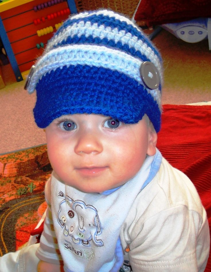 Free Knitting Pattern Baby Newsboy Hat : Knit Baby Newsboy Hat Pattern images