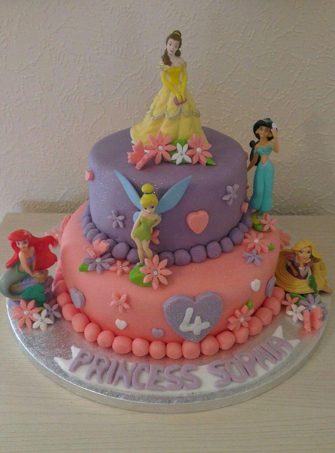 Frozen Tinkerbell  Tier Birthday Cakes