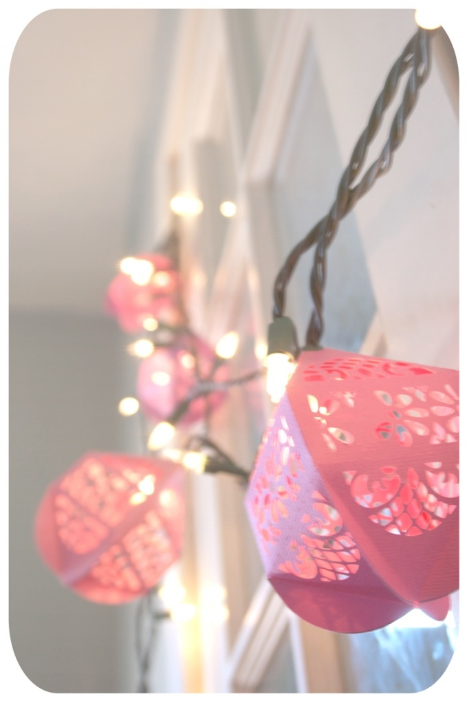DIY party lighting. This would be great accent lighting for a princess or fairy party in the pink, or change the color for other themes.
