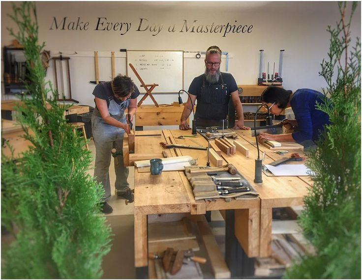 Joinery Boot Camp at the Unplugged Woodshop. Anne and Tannaz are sawing their first lap joints. Our day consists of a lap bridle mortise & tenon and dovetail joint...the four essentials in furniture making. Great job ladies!! #theUnpluggedWoodshop #woodworkingschool #woodworkingjoints #joinery #handtoolsonly #learnwoodworking #madebyhand #nopowernoproblem #leslieville #torontocraft ( photo by @jstarrmakesuw -; )