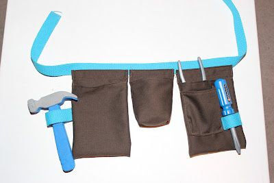 Child's toolbelt I made for a friend of my daughter... I might need an etsy shop, this was so much fun to make and play with!