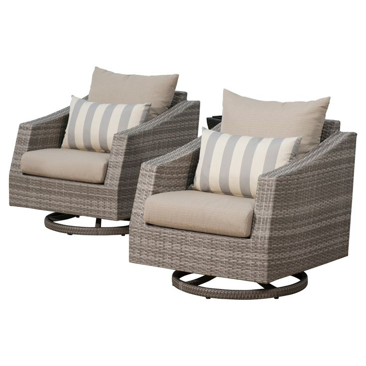 Cannes Woven Accent Chair: RST Brands Cannes 2 Piece Of Woven Motion Club Chairs With