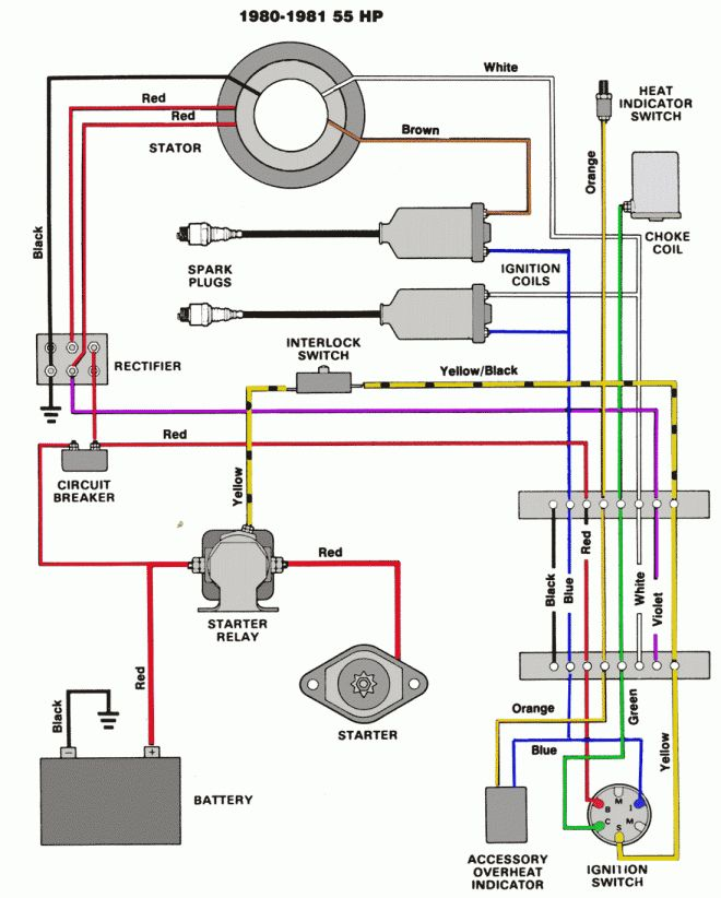 Mercruiser 140 Engine Wiring Diagram And Mercruiser Ignition Wiring Diagram Schematics Online Diagram Outboard Yamaha Engines