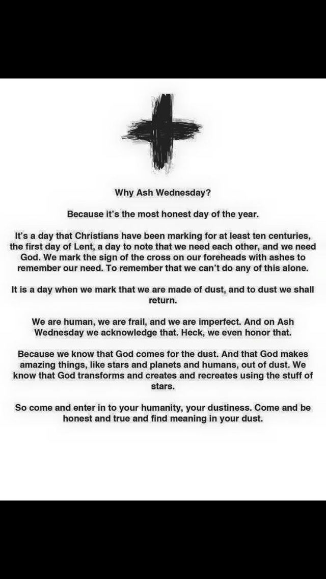 Meaning of Ash Wednesday (by Jennifer Frayer-Griggs)