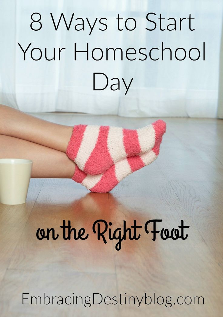 Need to reboot your morning routine? Try these 8 ways to get your homeschool day started off on the right foot. embracingdestinyblog.com