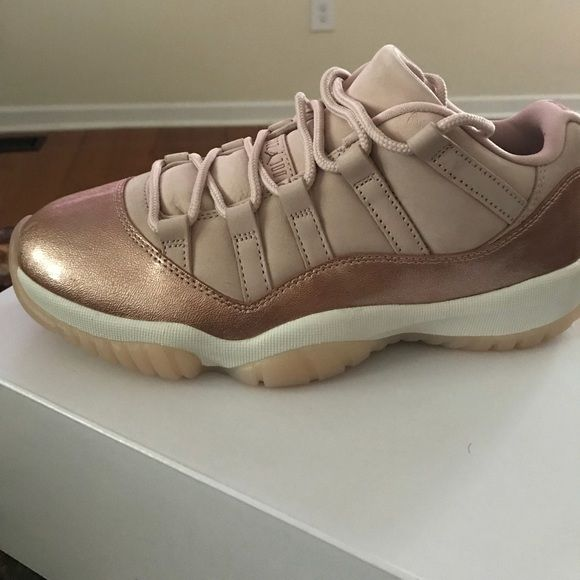 Rose gold Jordan retro 11 s Brand new ordered from Finishline first day out  in the wrong size. Jordan Shoes Sneakers 0230c6d35f