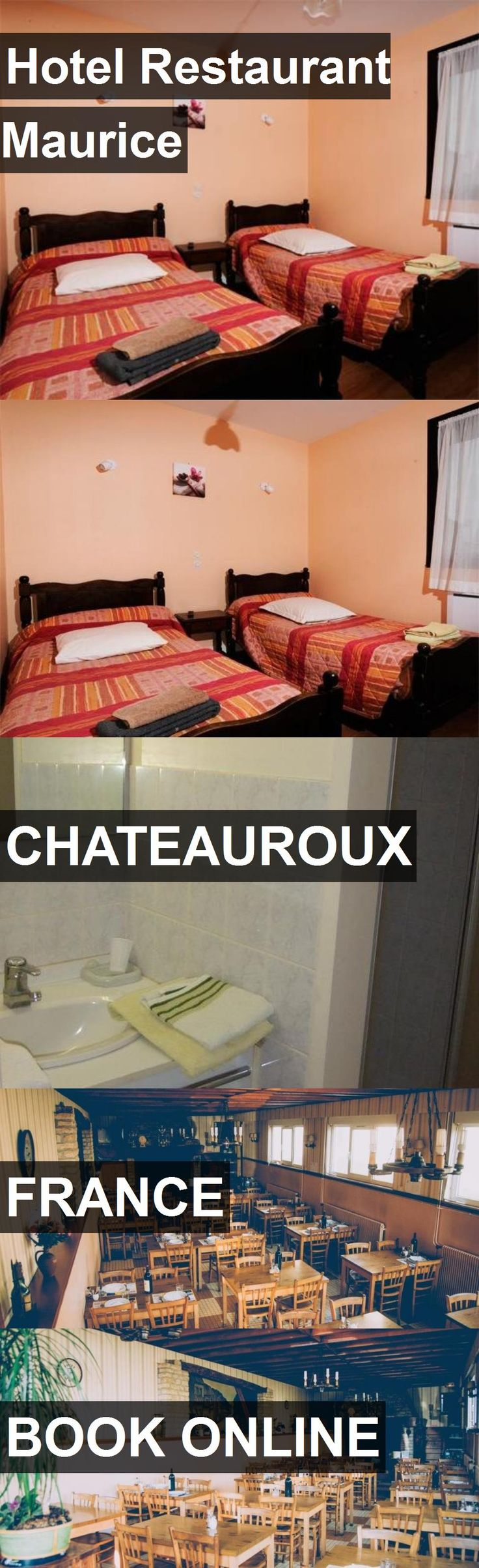 Hotel Hotel Restaurant Maurice in Chateauroux, France. For more information, photos, reviews and best prices please follow the link. #France #Chateauroux #HotelRestaurantMaurice #hotel #travel #vacation