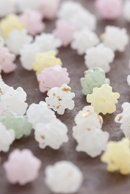 Japanese sweets / 金平糖(Konpeito).These are the same candy that was used in Spirited Away. And I wanted to try them myself.