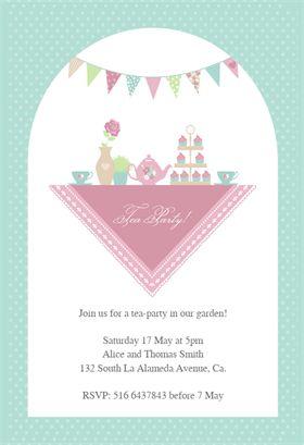Garden Tea Party - Printable Dinner Party Invitation Template