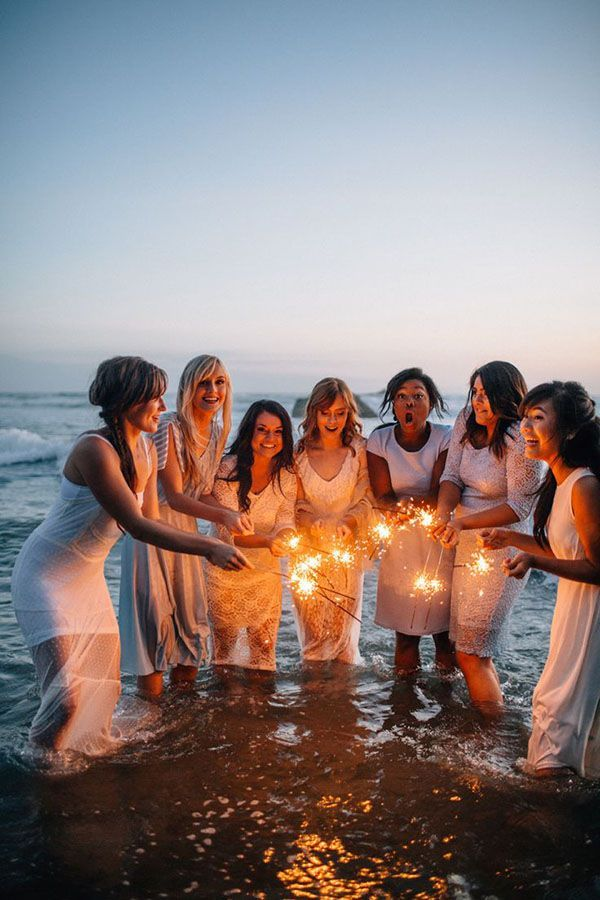 take creative beach wedding photos