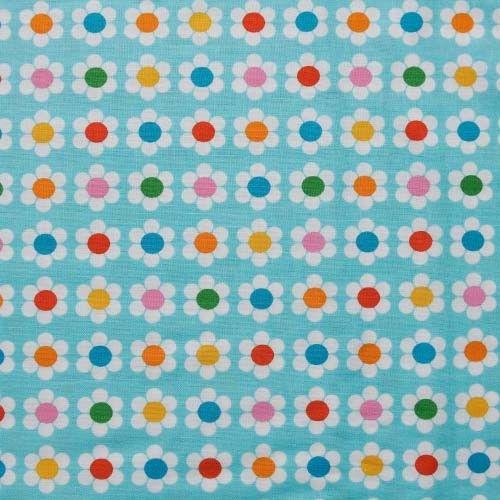 Ritme - De vrolijke bloemetjes worden herhaald, maar telkens met een andere kleur