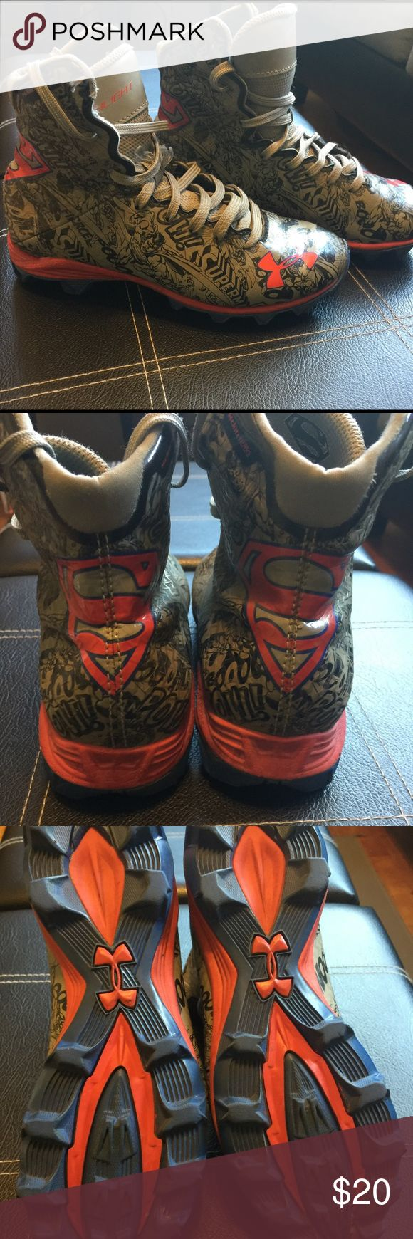 Alter Ego Superman Cleats Superman football cleats Under Armour Shoes Sneakers