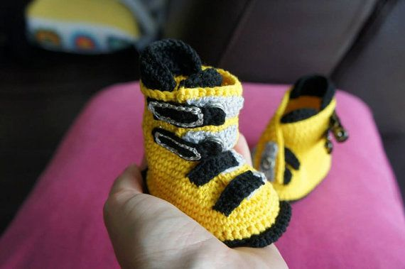 First Ever Crochet Skiing Boots by IvkinKutak on Etsy