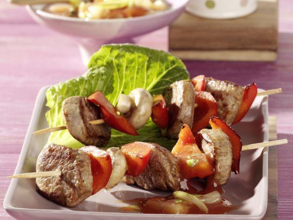 Filetspieße vom Grill mit asiatischer Ananassauce ist ein Rezept mit frischen Zutaten aus der Kategorie Schwein. Probieren Sie dieses und weitere Rezepte von EAT SMARTER!