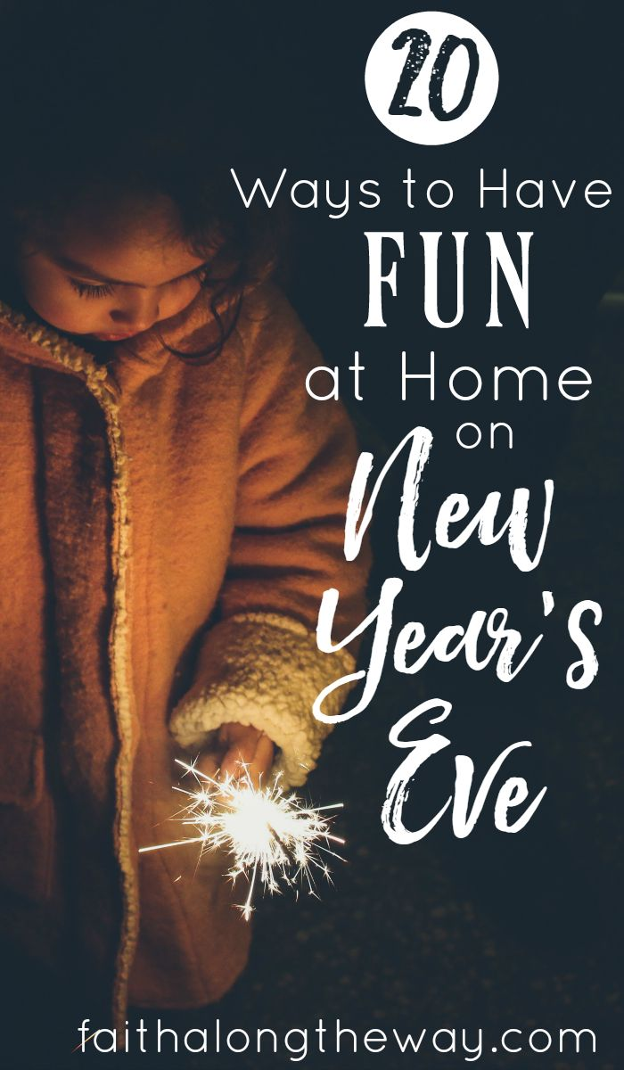 Have fun at home on New Year's Eve with these 20 creative ideas. Ring in the New Year enjoying your family with a night to remember!