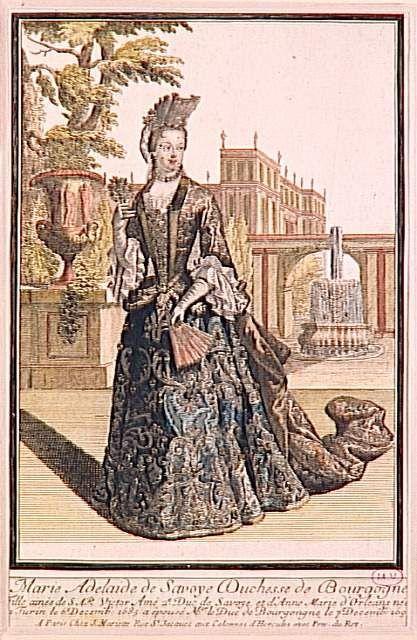 Marie Adelaide de Savoie a Paris, duchesse de Bourgogne by French school (Versailles) Mantua