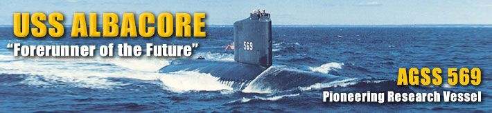 USS Albacore (AGSS 569) - a research vessel turned submarine museum in Portsmouth, NH