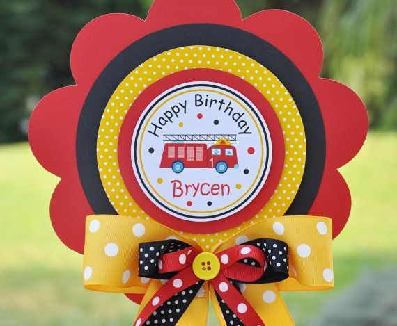 This was perfect for Jake's Fireman birthday - I didn't put a bow though. Jimmy thought it was too girly :)