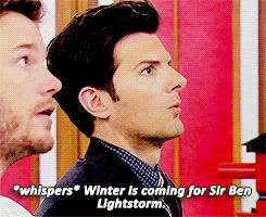 THANK YOU BEN WYATT FOR REMINDING US ALL WHAT THE TRUE QUEST IS, WHAT THE TRUE QUEST HAS ALWAYS BEEN. | Ben Wyatt Had The Perfect Reaction To Being Knighted
