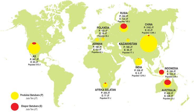 Peta Dunia Cadangan dan Ekspor Batubara