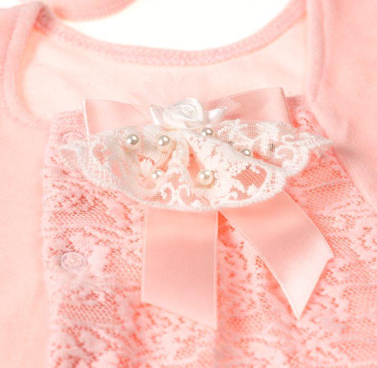 Подарочный комплект для новорожденной девочки ТриЯ экрю 3 предмета купить