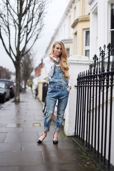 How to chic up overalls