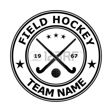 field hockey: Czarny znaczek emblemat hokej na trawie projekt. Ilustracji wektorowych Ilustracja