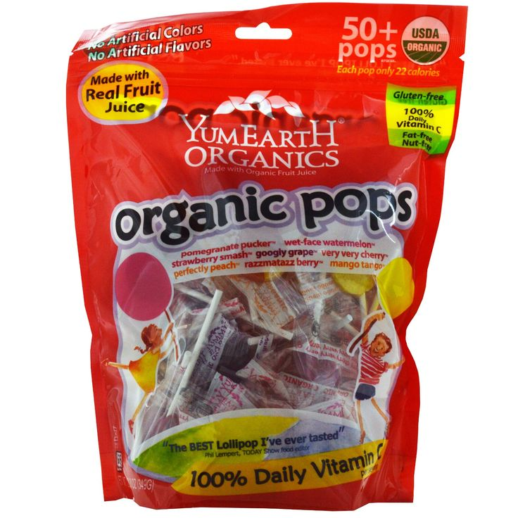 Yummy Earth, Organic Pops, Assorted Flavors, 50  Pops, 12.3 oz (349 g)