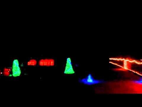 2013 christmas lights to music nuttin for christmas 50s version - How To Set Christmas Lights To Music