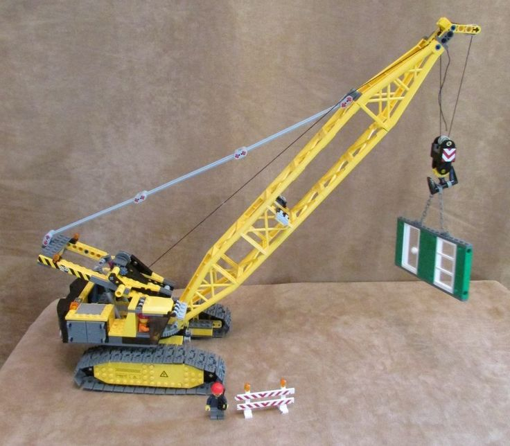 7632 Lego Complete City Technic Crawler Crane Construction site town block 8288 #LEGO