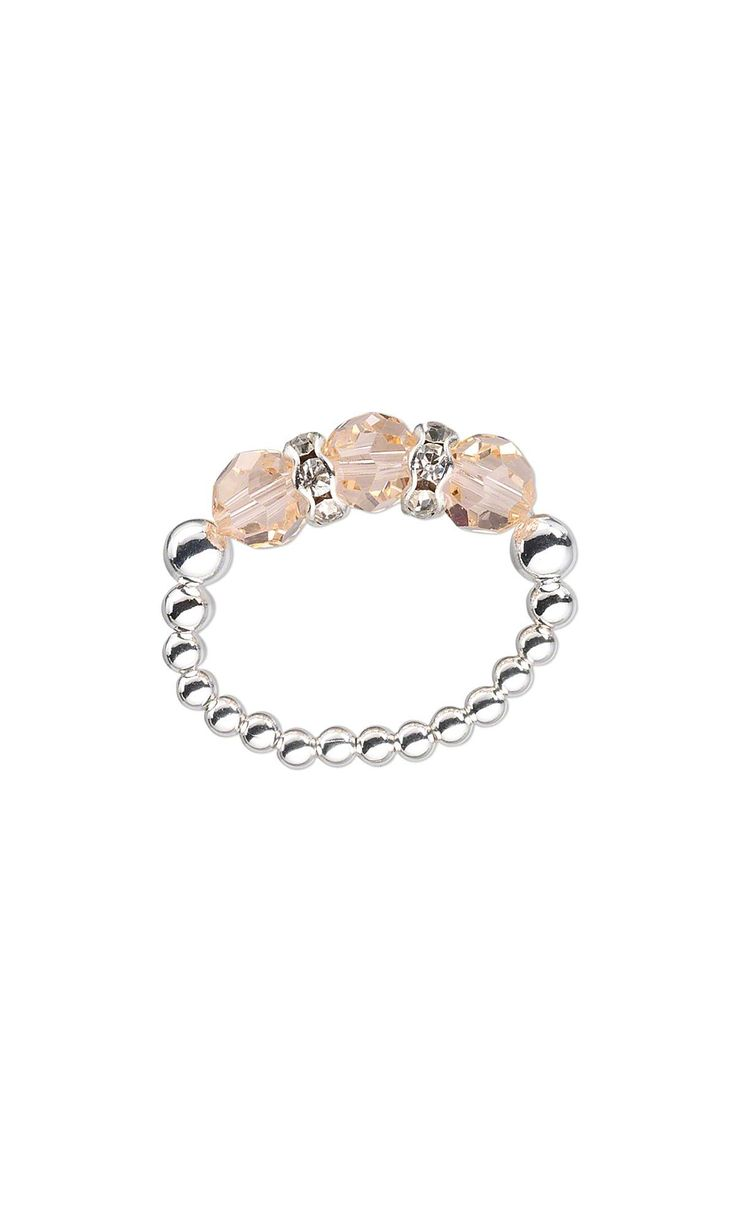 Jewelry Design - Ring with Swarovski Crystal Beads and Silver-Plated Beads - Fire Mountain Gems and Beads