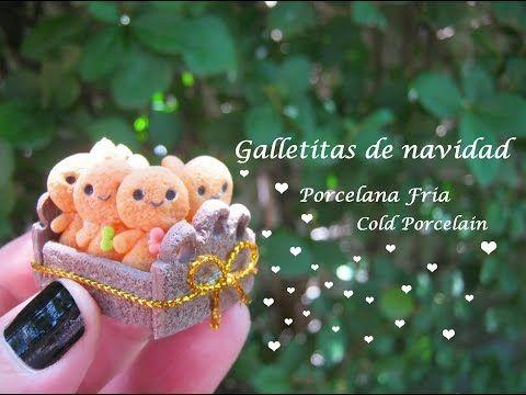 Galletitas de Navidad en Porcelana Fria / Cold Porcelain - YouTube