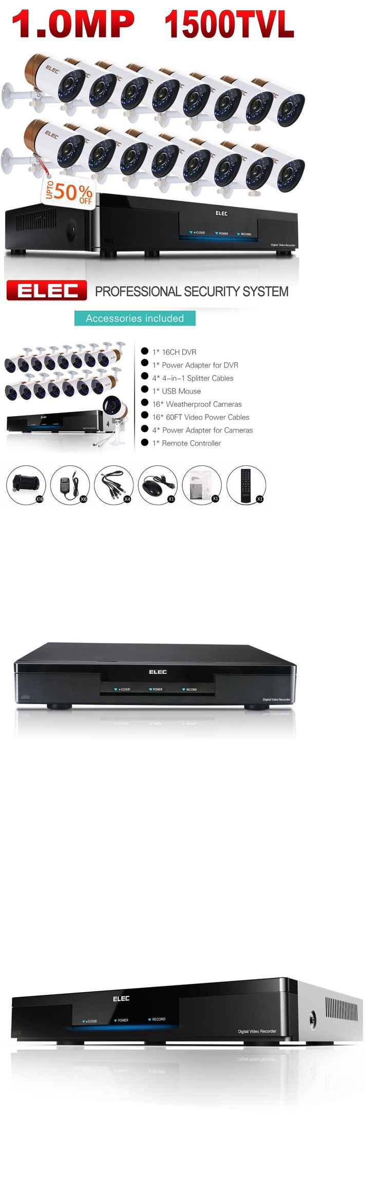 Surveillance Security Systems: Elec 16Ch 960H Hdmi Dvr Cctv 1500Tvl Home Security Camera System Video Recorder -> BUY IT NOW ONLY: $610.2 on eBay!