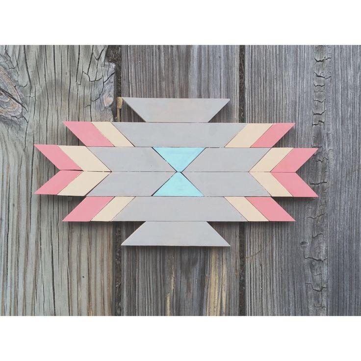 Small Wall Art - Mini Southwest Wood Decor - Aztec Decor by WildflowerWoodworkMN on Etsy