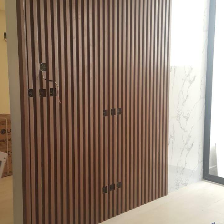 بديل الخشب للجدران بديل خشب للجدران بديل الخشب تكسات بديل الخشب Pvs خلفية حائط تلفزيون تفصيل خشب Bathroom Interior Design Home Decor Interior Design