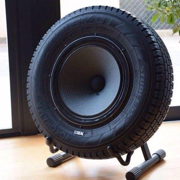 Sub-woofer Speaker Made Out Of An Upcycled Tire • Creative Spotting