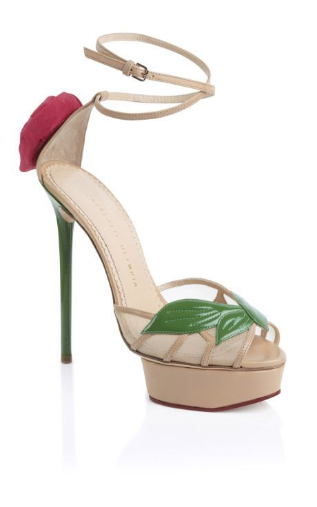 49631d45e65b Charlotte Olympia Ss Rose Sandal in Multicolor (green nude red ...