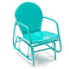 Coral Coast Vintage Retro Outdoor Glider Chair - Outdoor Gliders at Hayneedle