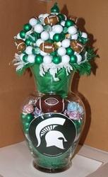 Michigan State Football Vase