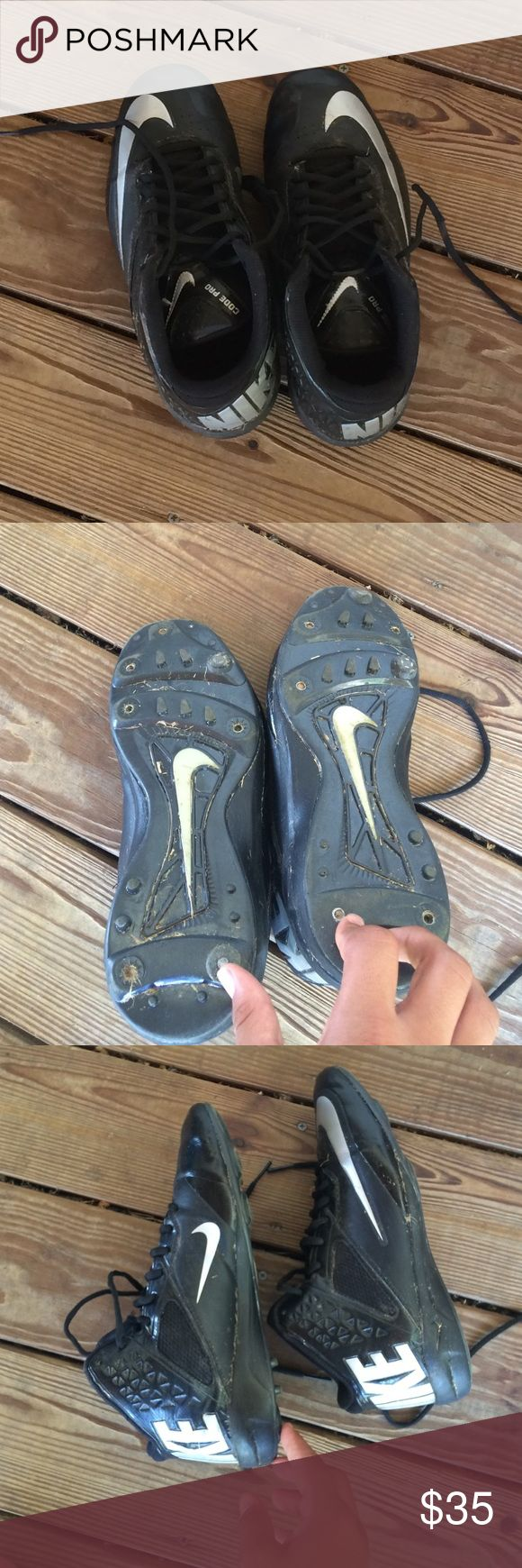 Men's size 10 football cleats Men's size 10 football cleats ( great condition) worn about 40 times ( 1 football season ) Shoes
