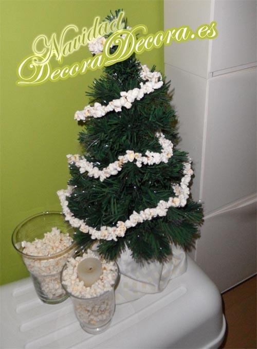 Palomitas para la decoracion de Navidad.