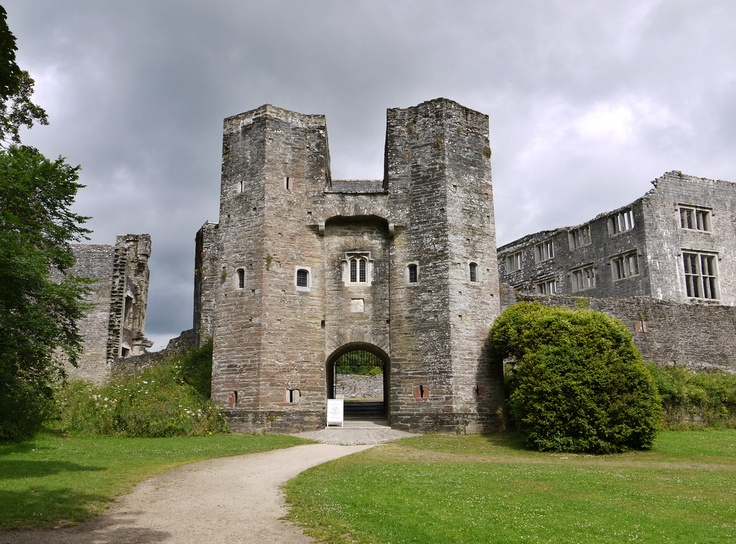 Berry Pomeroy Castle c1305 near Totness in Devon UK.This castle is one of most actively haunted castles in england, boasting two lady ghosts (the white lady and the blue lady) It was bestowed upon Ralph de Pomeroy by William the Conqueror http://www.mysteriousbritain.co.uk/england/devon/featured-sites/berry-pomeroy-castle.html#