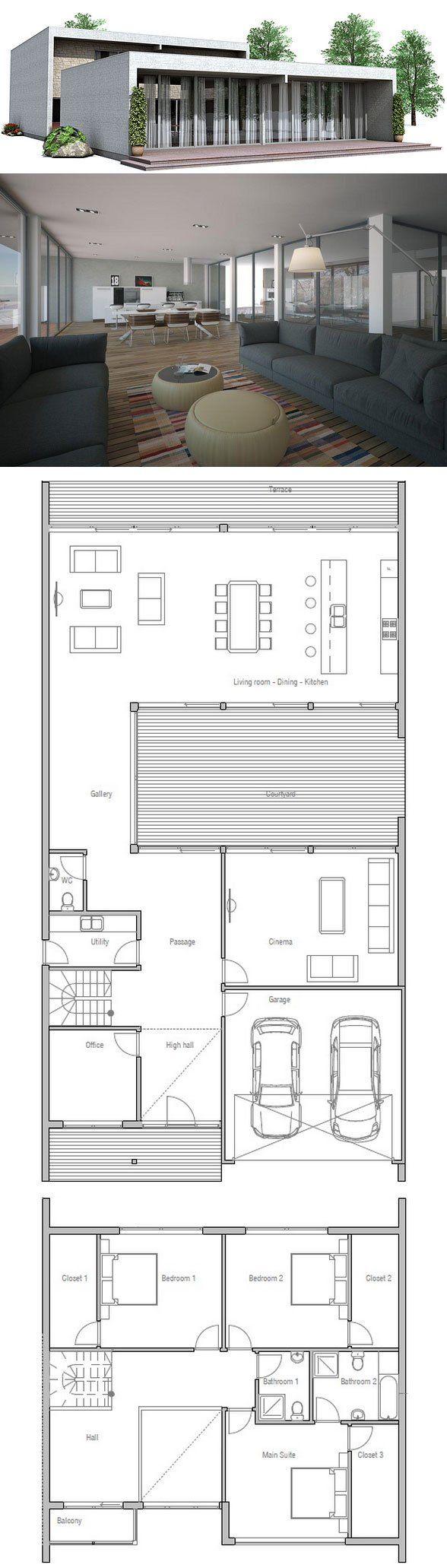 Large contemporary & minimalist house design,