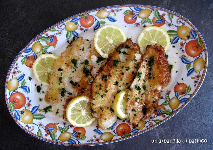un'arbanella di basilico: Filetti di pesce persico alla Munière per l'Abbecedario Culinario
