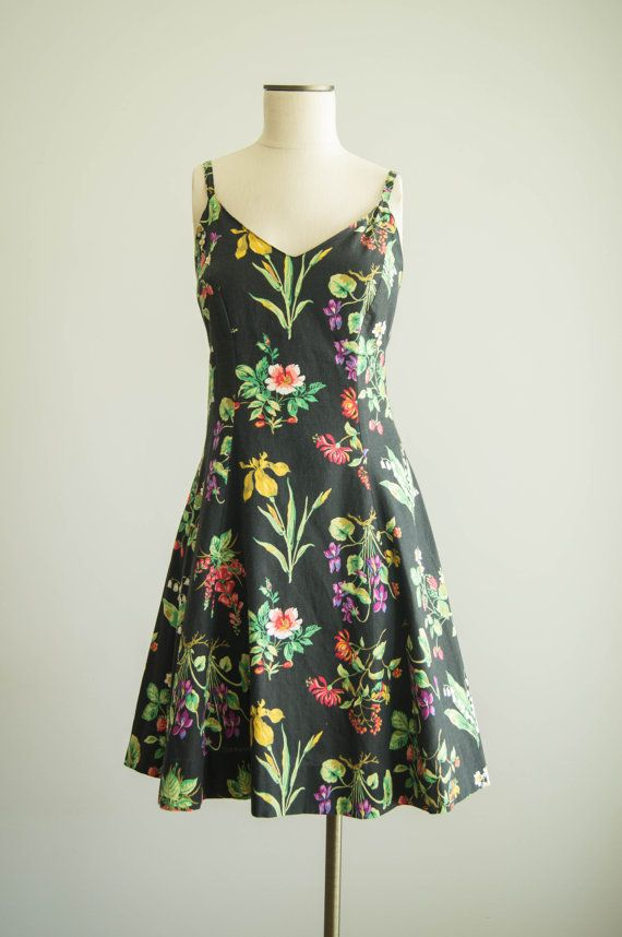 vintage 1990s dress / 90s Betsey Johnson dress / medium /