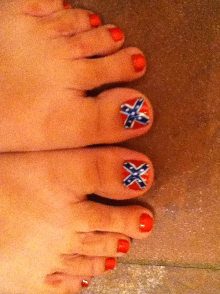 Rebel flag toenails/nail art - 25+ Unique Country Nail Art Ideas On Pinterest Country Nails